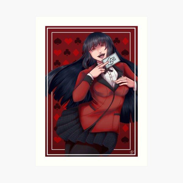 Kakegurui Jabami Yumeko Art Print