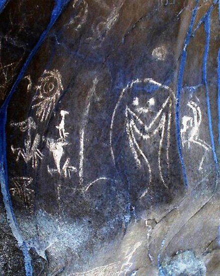 Spirits of the Cave-Hispanic Caribbean Taino Indian Caves Painting by rchalas