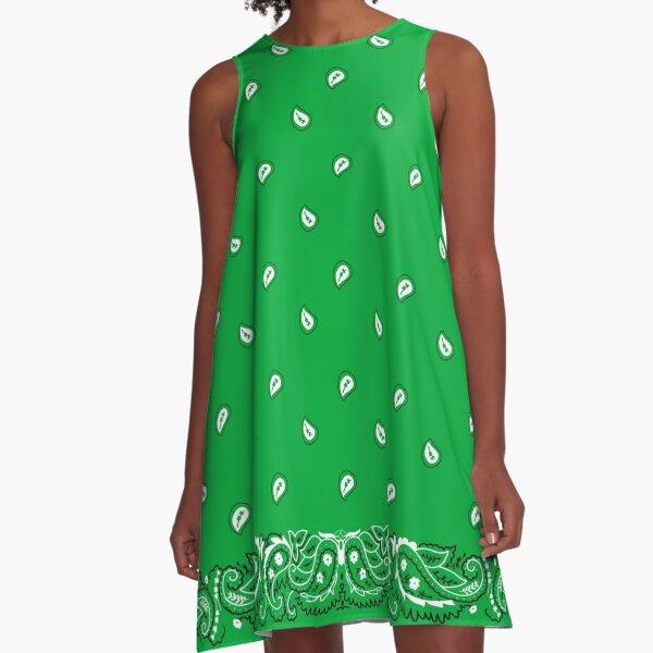 Green Bandanana  A-Line Dress