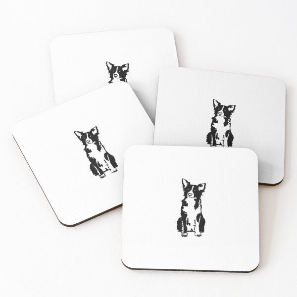 Border collie Coasters (Set of 4)