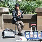Street Musician in Hyde Park by Laurel Talabere