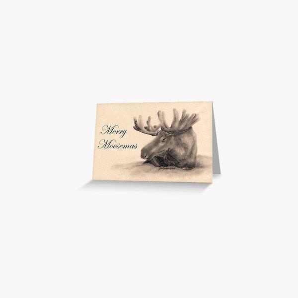 Merry Moosemas Greeting Card
