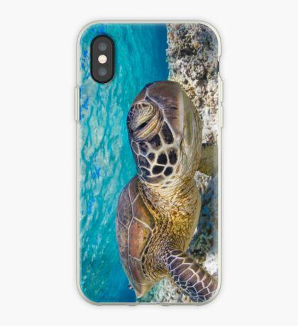 Winking turtle iPhone Case