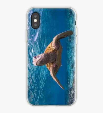 Turtle in the blue iPhone Case