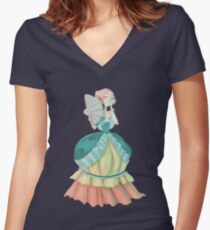 Steven Universe Victorian Pearl Women's Fitted V-Neck T-Shirt