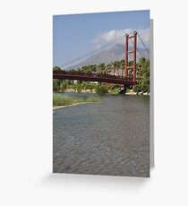 Puerto Banus bridge Greeting Card