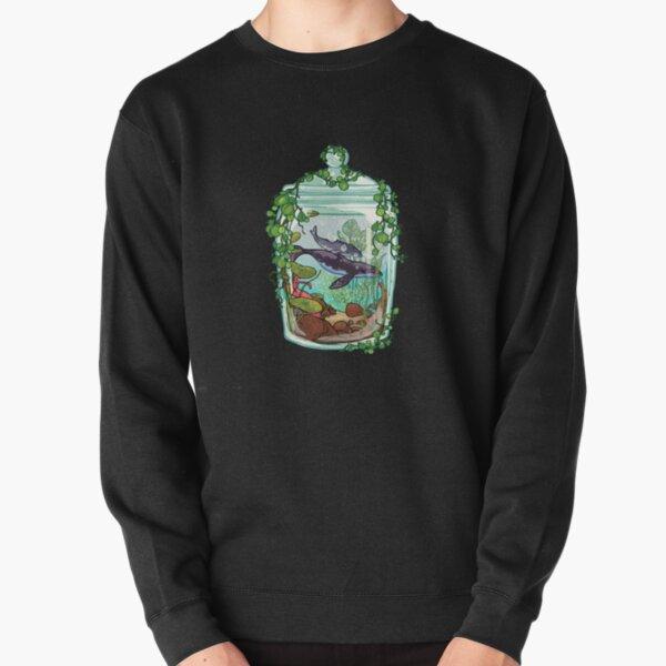 Whale Plant Terrarium Pullover Sweatshirt