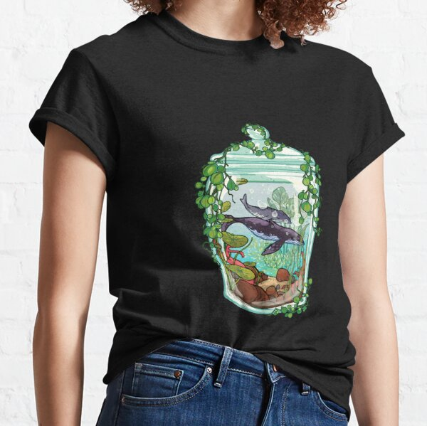 Whale Plant Terrarium Classic T-Shirt