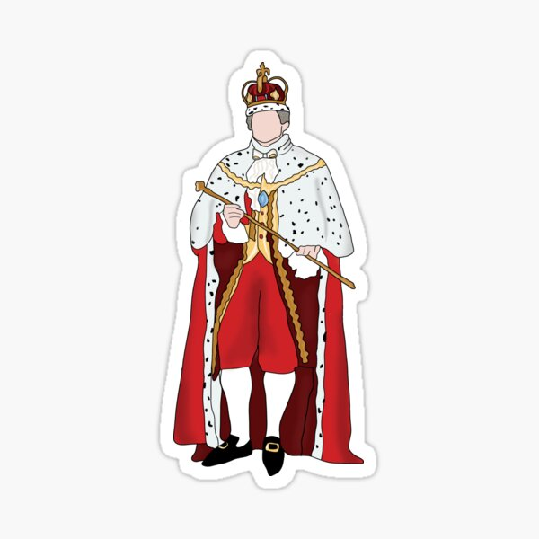 King George Hamilton  Sticker