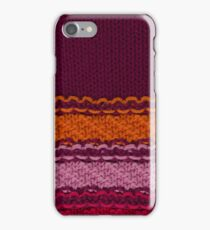 Striped knitted texture iPhone Case/Skin