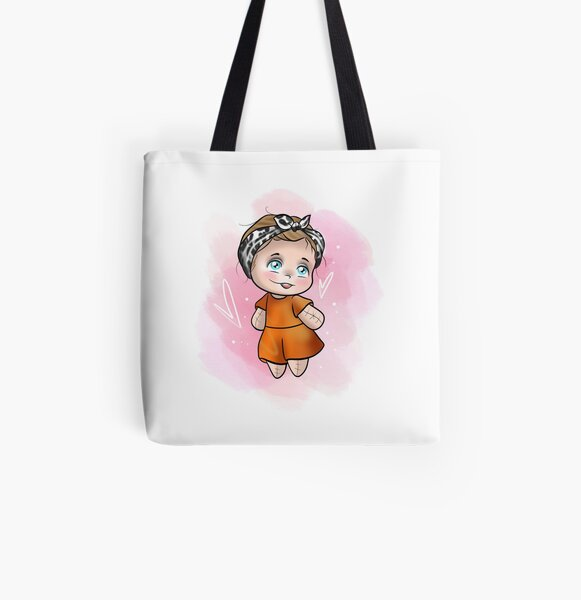 Cute baby doll All Over Print Tote Bag