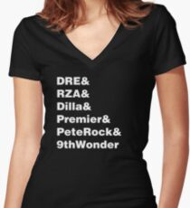 Hip Hop Helvetica III Women's Fitted V-Neck T-Shirt