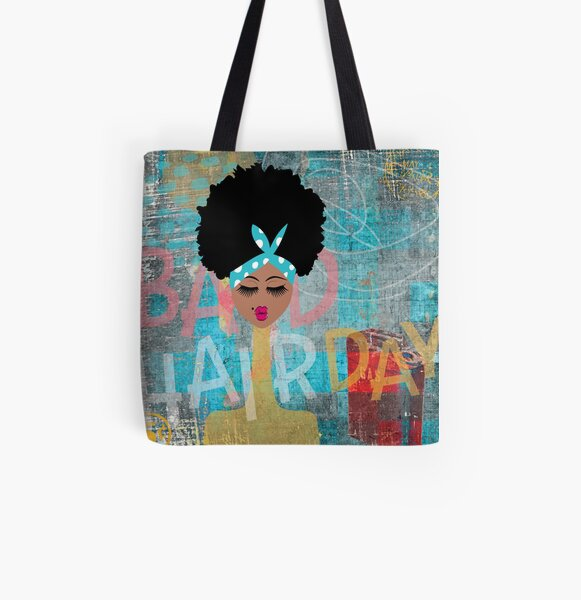 Bad Hair Day All Over Print Tote Bag