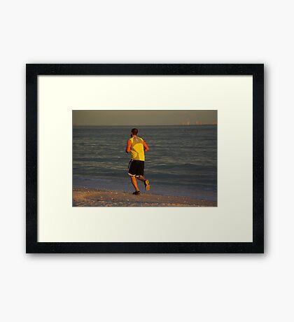 The Jogger Framed Print