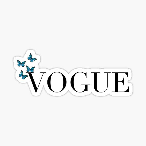 vogue butterfly  Sticker