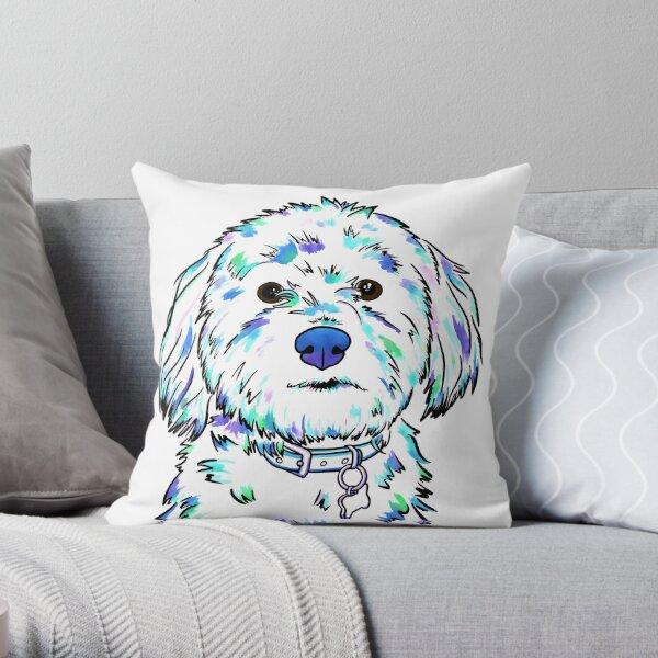 Bella Watercolor Throw Pillow