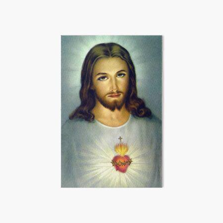 Jesus Sacred Heart Divine Mercy Christian Roman Catholic  Art Board Print