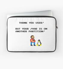 linux tux mario like troll Laptop Sleeve