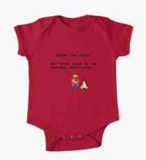 linux tux mario like troll Kids Clothes