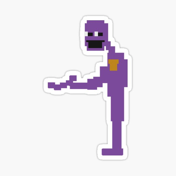 purple guy (the man behind the slaughter) Sticker