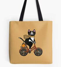 Cat on a Bicycle  Tote Bag