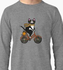 Cat on a Bicycle  Lightweight Sweatshirt