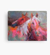 Contemporary Horses Svetlana Novikova Painting Metal Print