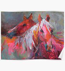 Contemporary Horses Svetlana Novikova Painting Poster