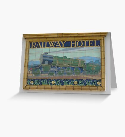 Railway Hotel Greeting Card