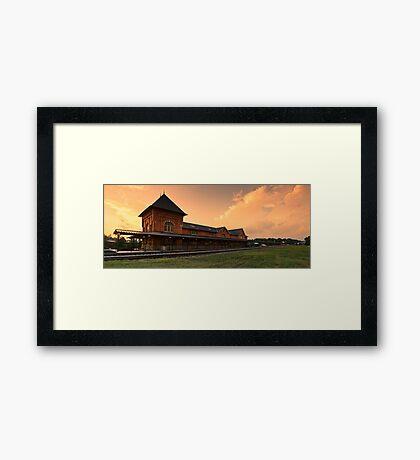 Bristol Train Station Panorama Framed Print