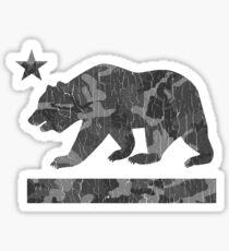 California Bear Urban Camo (Vintage Distressed) Sticker