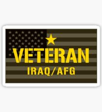 VETERAN - Iraq and Afghanistan - I Served Sticker Sticker