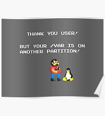 linux tux mario like troll Poster