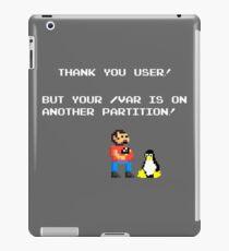 linux tux mario like troll iPad Case/Skin