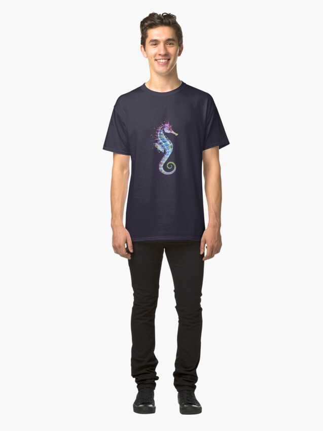 Alternate view of Seahorse - Purple Classic T-Shirt