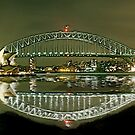 Sydney Harbour Bridge reflection by Andrew  MCKENZIE
