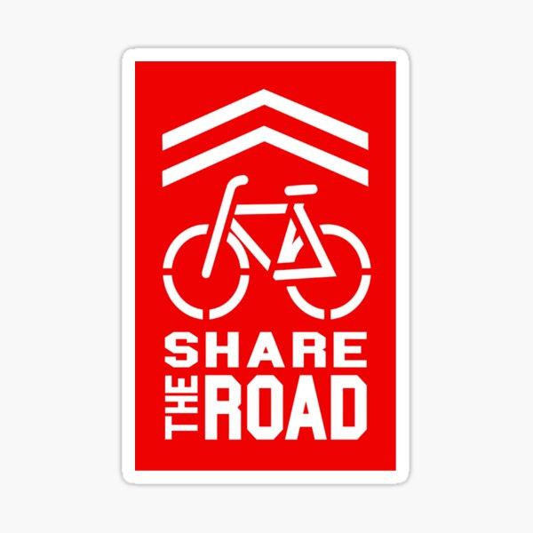 Share the Road Sticker - Red Version Sticker