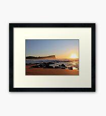 Sunrise Avalon BEACH Sydney Australia Framed Print