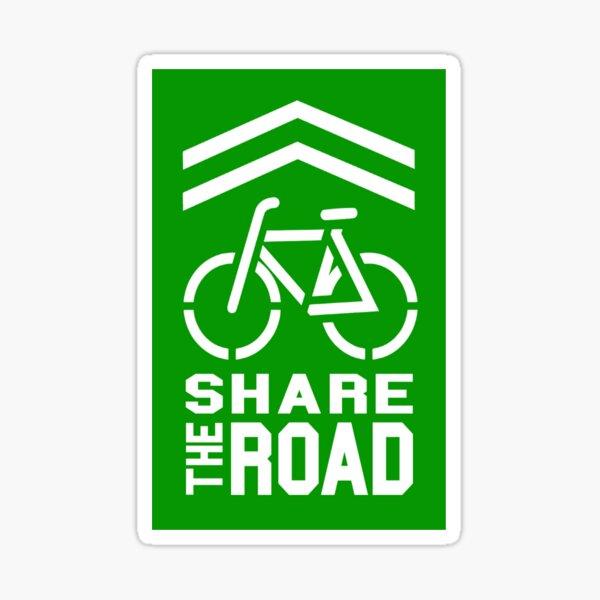 Share the Road Sticker - Green Version Sticker