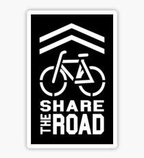 Share the Road Sticker - Black Version Sticker