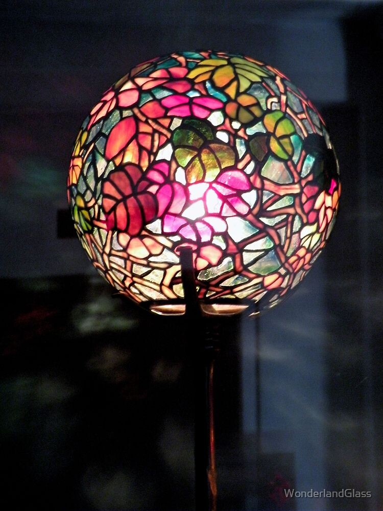 Autumn Leaf Globe Lamp Wonderlandglass Redbubble