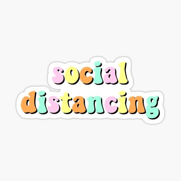 social distancing decal Sticker