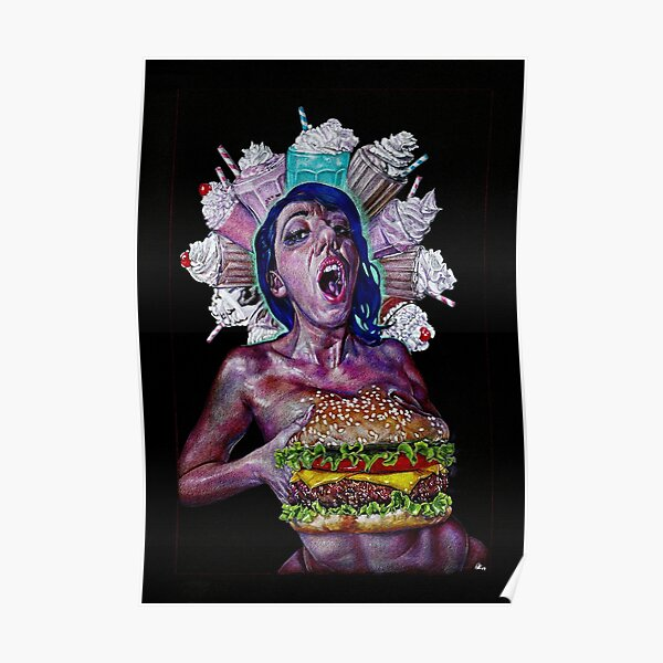 Burger boobs Poster