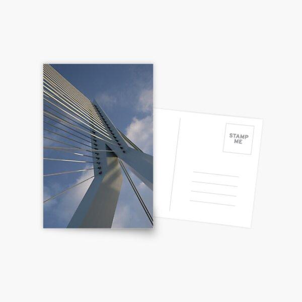 Erasmus bridge in Rotterdam Postcard