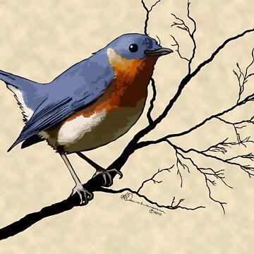 Little Bird Blue by leeleeandthebee