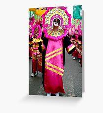 mardi-gras dancer Greeting Card