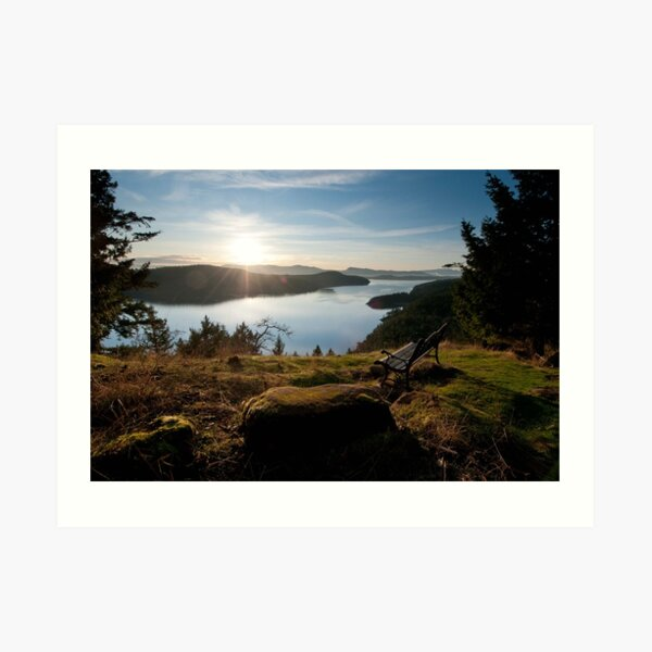 Navy Channel from Vulture Ridge Trail Art Print