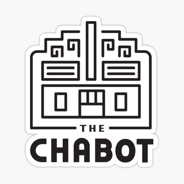 The Chabot (Logo black line art on white)  Sticker