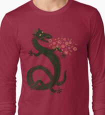 Dragon, Flower Breathing Long Sleeve T-Shirt