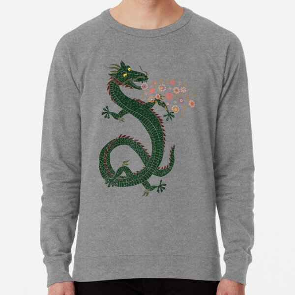 Dragon, Flower Breathing Lightweight Sweatshirt